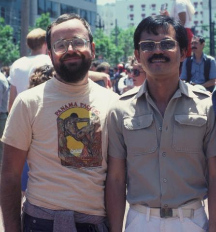 Stephen O Murray (left) and Keelung Hong, PhD  (right) in 1983