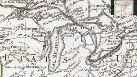 de Vaugondi, Etat Unis, 1785