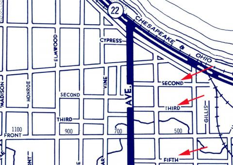 Numbered streets in Traverse City, Michigan